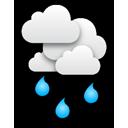 Bedeckt, leichte Regenschauer