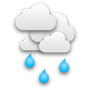 Bedeckt, leichter Regen