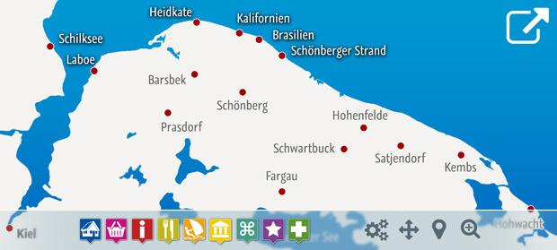 Ostsee Karte Schleswig Holstein.Ostsee Ferienhausvermietung Birgit Gosch
