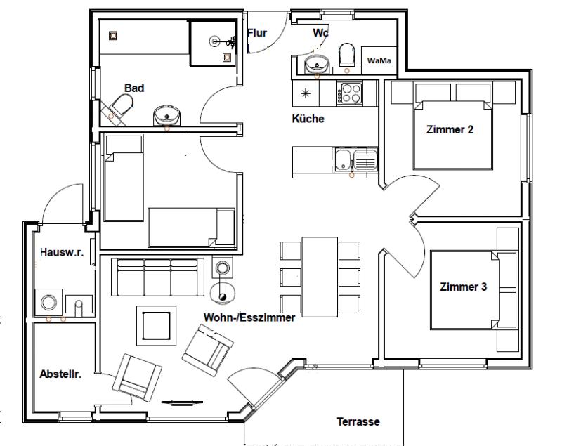 grundriss kleines haus fr drei personen ferienhaus rachel iii kalifornien grundriss kleines. Black Bedroom Furniture Sets. Home Design Ideas